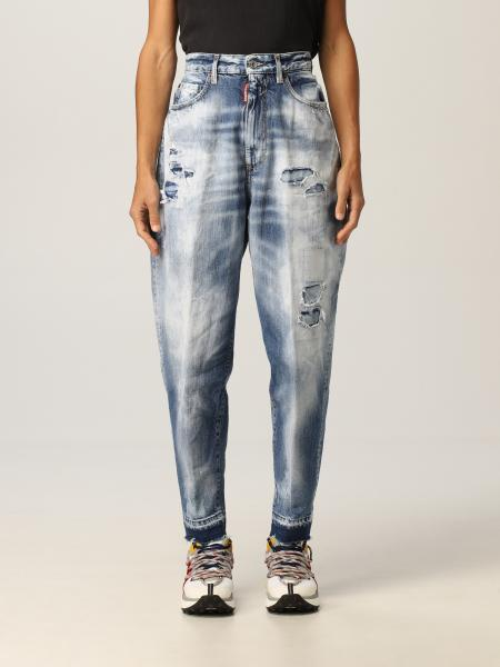 Jeans Sasoon '80 Dsquared2 in denim washed