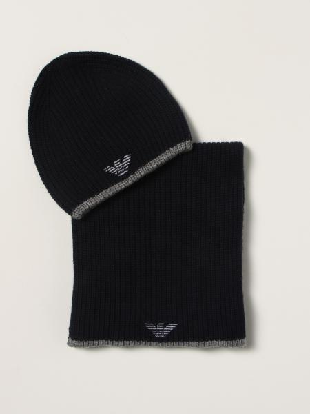 Set cappello + sciarpa Emporio Armani in misto lana