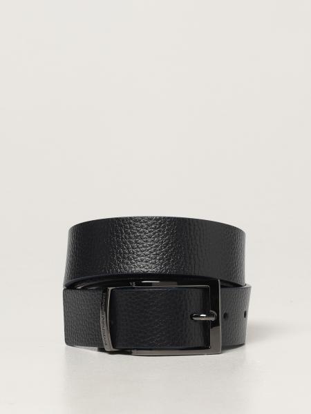Emporio Armani men: Emporio Armani belt in grained leather