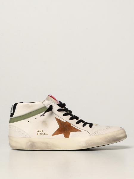 Golden Goose men: Mid Star classic Golden Goose trainers in nappa leather