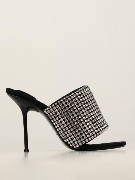 Julie Alexander Wang mules with crystals