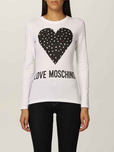 Love Moschino t-shirt in cotton with heart