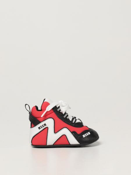 Msgm Kids shoe in leather and fabric