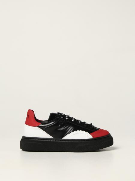N ° 21 sneakers in leather and fabric