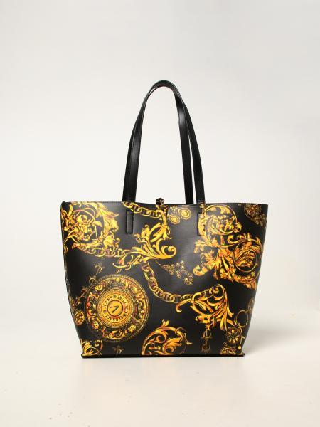 Versace Jeans Couture donna: Borsa Versace Jeans Couture in pelle sintetica liscia e saffiano
