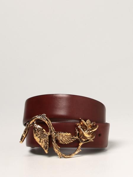 Alberta Ferretti donna: Cintura Alberta Ferretti in pelle con maxi fibbia lavorata