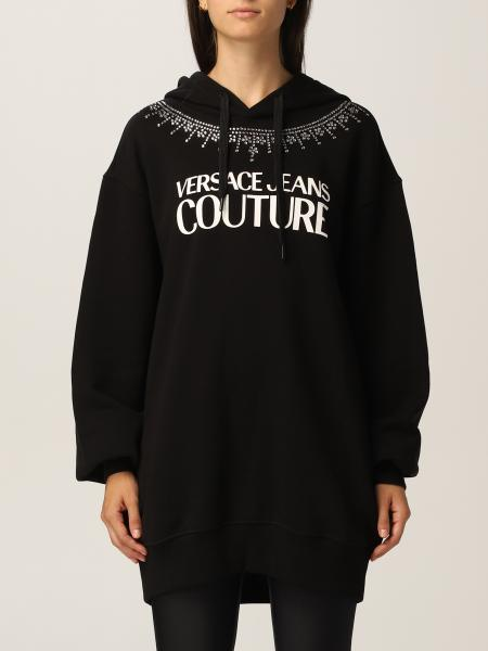 Felpa Versace Jeans Couture con logo e strass