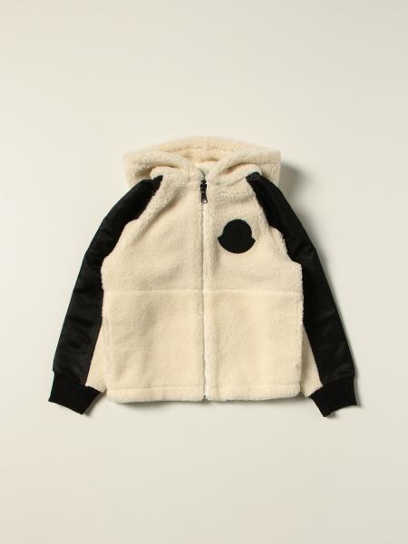 Giacca Moncler in pile bicolor