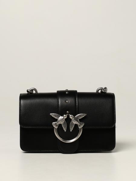 Love mini Icon Simply Pinko bag in calfskin