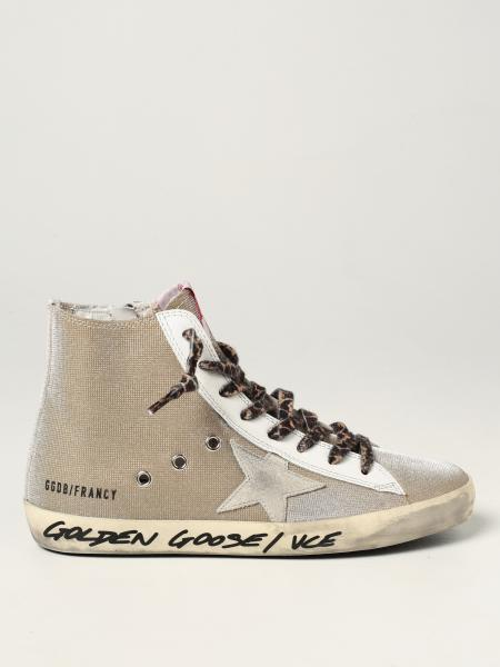 Sneakers Francy Classic Golden Goose in tela glitter