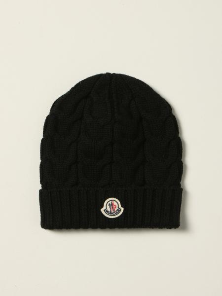 Moncler beanie hat in braided wool