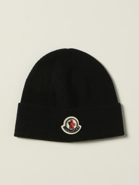 Moncler beanie hat in wool blend