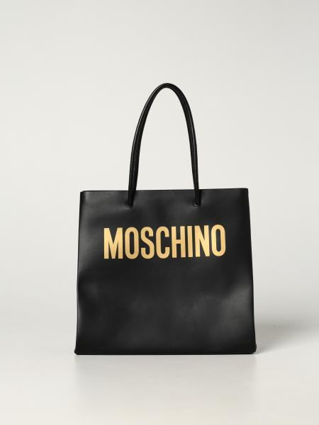 Moschino Couture leather handbag with logo