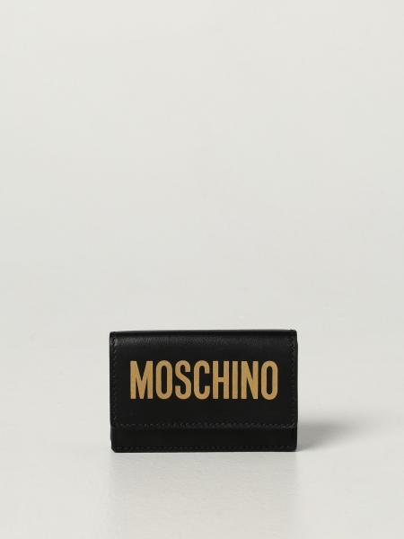 Portafoglio Moschino Couture in pelle con logo