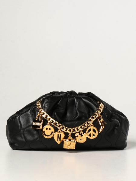 Smiley Moschino Couture pouch in quilted leather