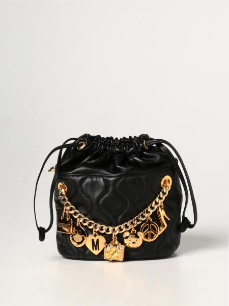 Smiley Moschino Couture leather bag