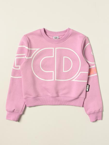 Felpa Gcds in cotone con logo