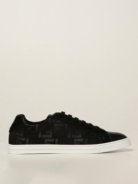 Fendi uomo: Sneakers Fendi in nylon FF e pelle