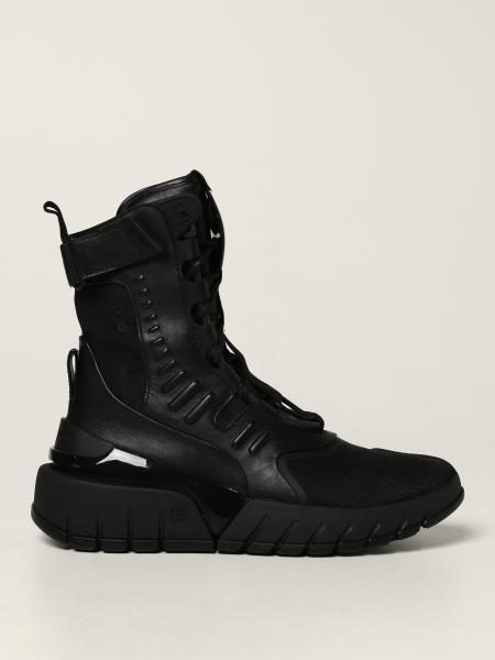 Sneakers alta Balmain in pelle e tessuto tecnico