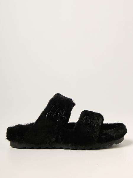 Chiara Ferragni sandals in ecological fur