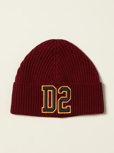Dsquared2 Junior men: Dsquared2 Junior beanie hat with D2 logo patch