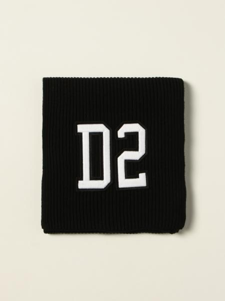Dsquared2 Junior scarf with D2 logo patch