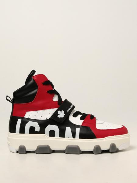 Dsquared2 uomo: Sneakers Icon Basket Dsquared2 in pelle
