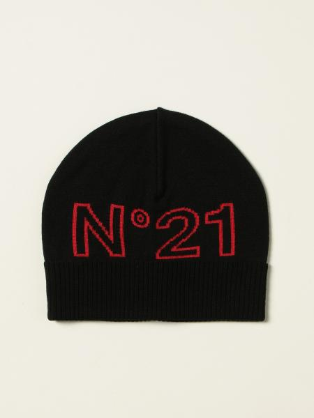 N ° 21 beanie hat with contrasting logo