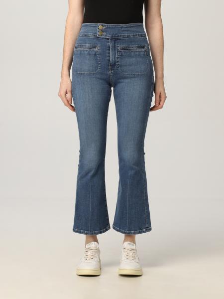 Frame: Jeans Frame svasato a vita alta