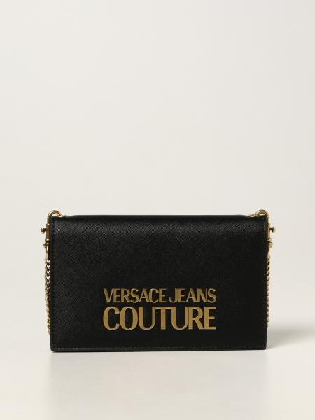 Versace Jeans Couture donna: Borsa a tracolla Versace Jeans Couture in pelle saffiano sintetica