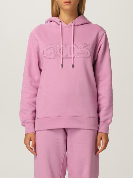Gcds donna: Felpa Gcds in cotone con big logo