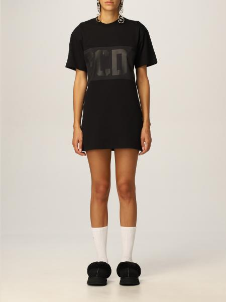 Gcds women: New Gcds logo band t-shirt dress in cotton