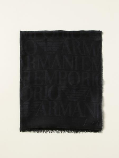 Sciarpa Emporio Armani con logo all over
