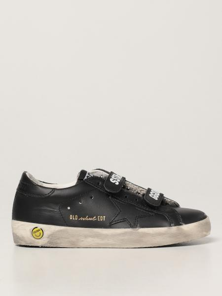Old School Golden Goose trainers in leather