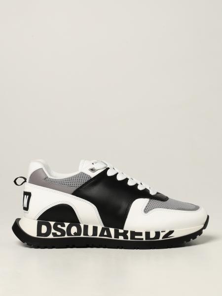 Sneakers Running Dsquared2 in pelle e mesh