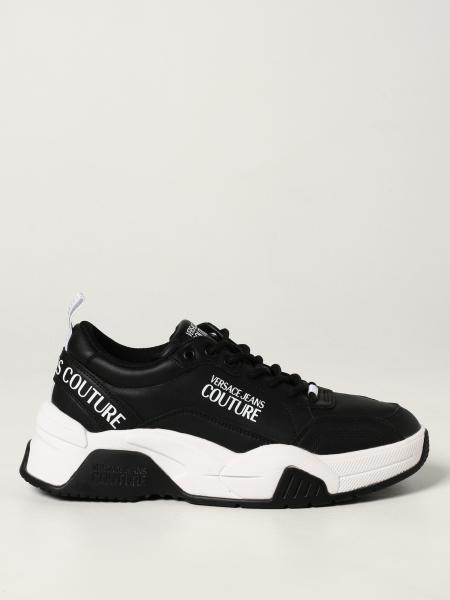 Versace Jeans Couture men: Versace Jeans Couture trainers in leather