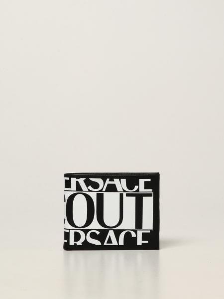 Versace Jeans Couture uomo: Portafoglio Versace Jeans Couture in nappa con logo