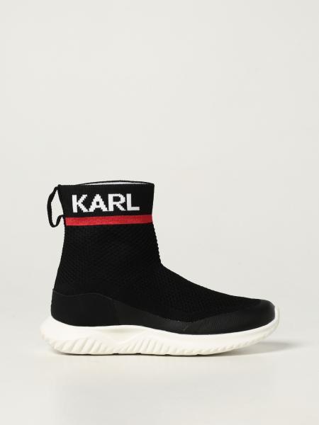 Karl Lagerfeld Kids sneakers in stretch knit