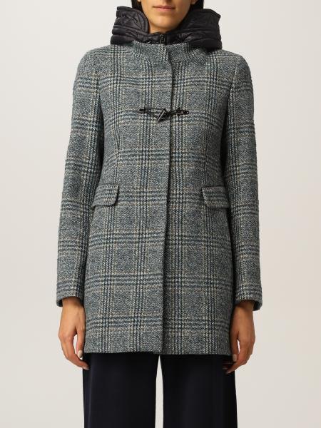 Cappotto Fay in misto lana bouclé con cappuccio