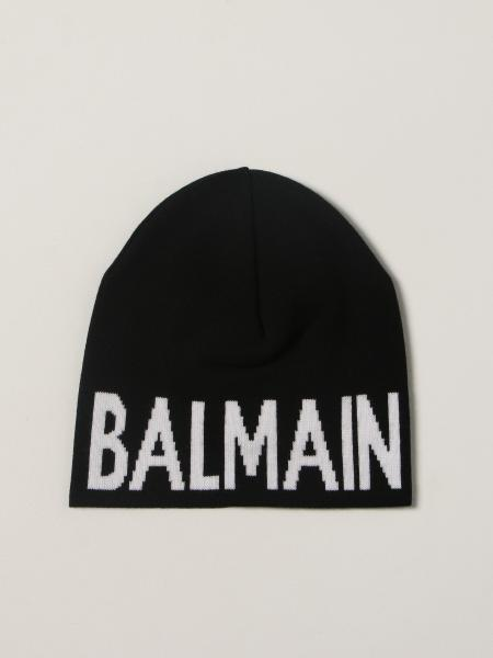 Balmain beanie hat in wool with big logo