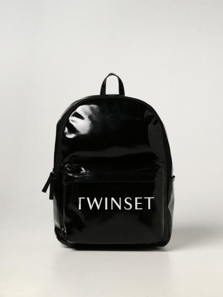 Twin-set backpack in synthetic leather