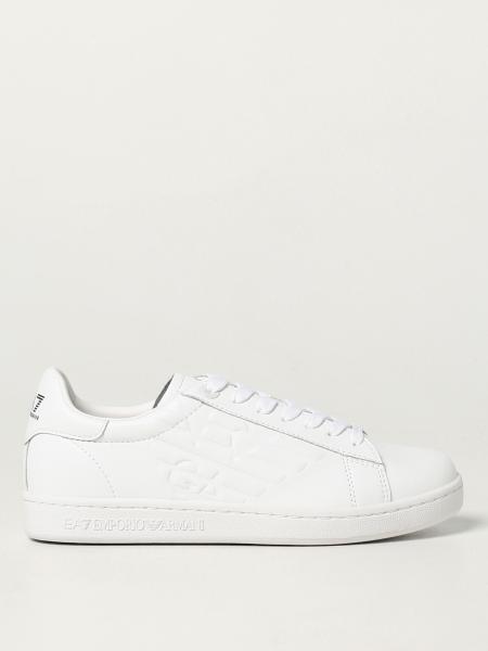 Ea7 uomo: Sneakers EA7 in pelle con logo