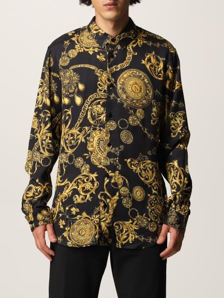 Versace Jeans Couture: Рубашка Мужское Versace Jeans Couture