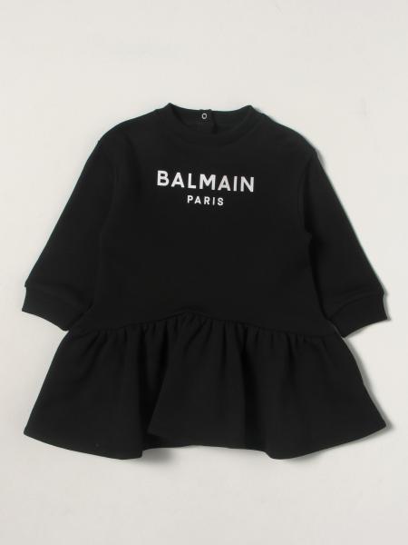 Balmain bambino: Abito Balmain in cotone con logo