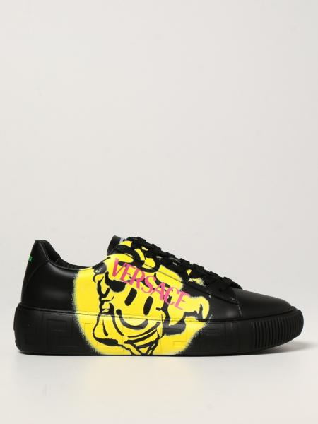 Greca Medusa Smile Versace trainers in leather