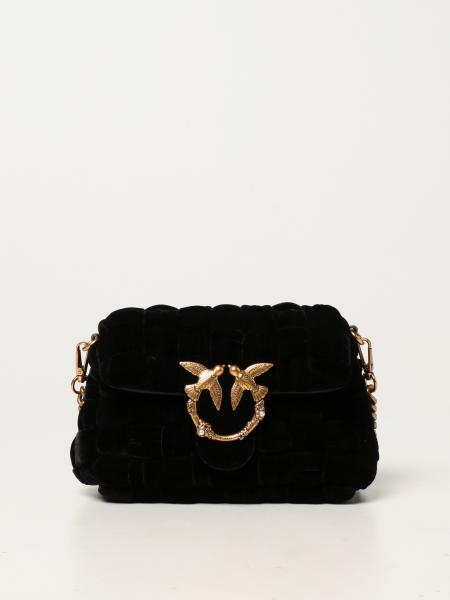 Love mini Puff Weave Pinko bag in velvet