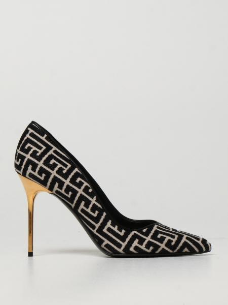 Balmain court shoes in monogram fabric
