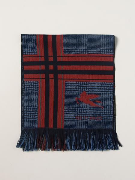 Etro uomo: Sciarpa Etro in lana con Pegaso