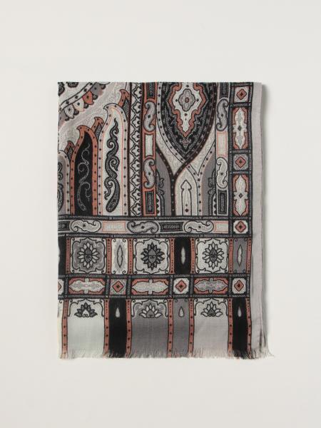 Etro uomo: Sciarpa Etro in seta e lana paisley