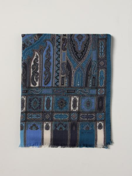 Etro uomo: Foulard Etro in seta e lana paisley